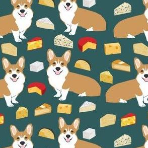 corgi cheese lover fabric - dog, dogs, cheese, food, design -