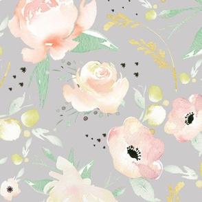 sweet floral (grey)