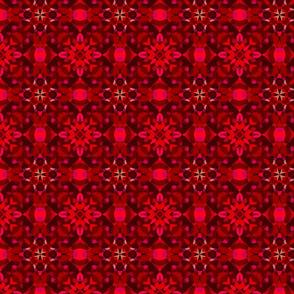 Festive bright red pattern