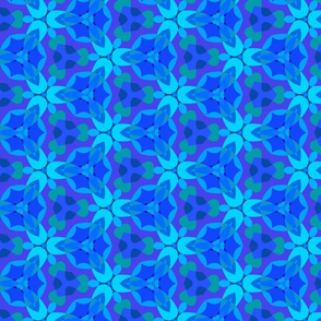 Bright blue kaleidoscope