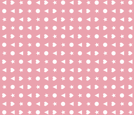 Tiny Charms Pink fabric by gumbo_gator on Spoonflower - custom fabric