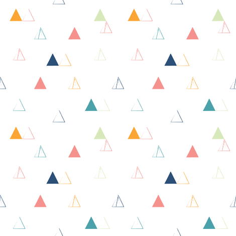 Triangle Confetti fabric by danielamdesigns on Spoonflower - custom fabric