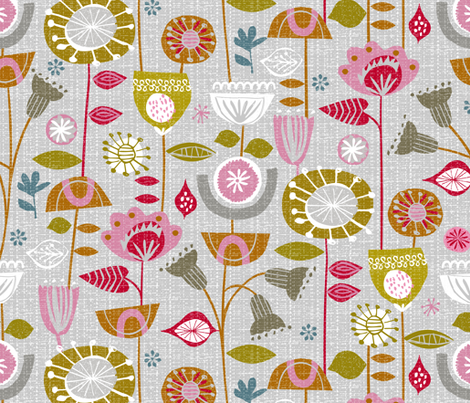 fanciful fifties flowers fabric by ottomanbrim on Spoonflower - custom fabric