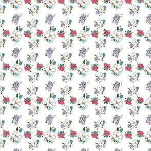 Lightly Charmed Grid Floral