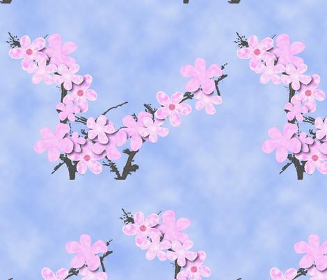 Cherry Blossom fabric by tucoshoppe on Spoonflower - custom fabric