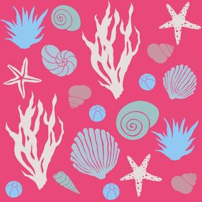 In the Sea - magenta