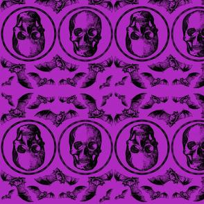 Halloween skull and bat
