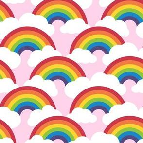 medium circle rainbow - sunrise pink