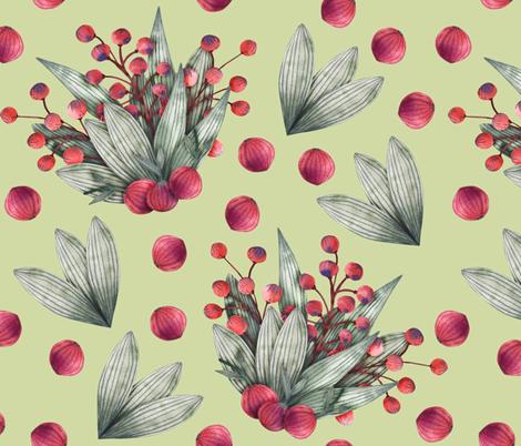 A berry bouquet fabric by katrinkastem on Spoonflower - custom fabric