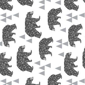 bear // geo bear geometric bear extra large black and white bear for kids nursery