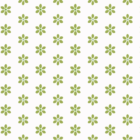 Tiny Little Green Cactus Flower fabric by lauriekentdesigns on Spoonflower - custom fabric
