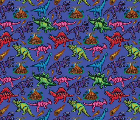 Extinct in Purple fabric by robinelizabethdesigns on Spoonflower - custom fabric