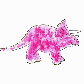 Triceratops Pink  for Cut and Sew