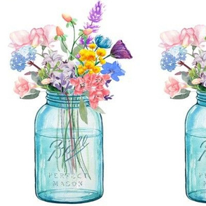 Mason Jar Bouquet Painting