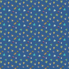 Blue Bugs and Butterflies