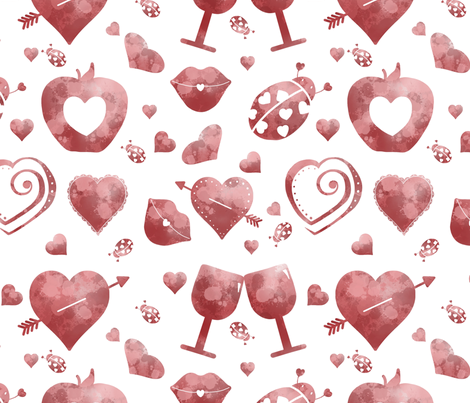 Valentine fabric by alisha_ober on Spoonflower - custom fabric