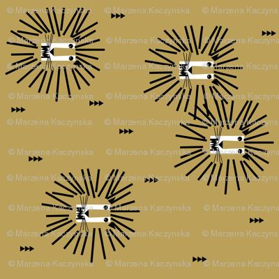 Lion head - mustard rotated