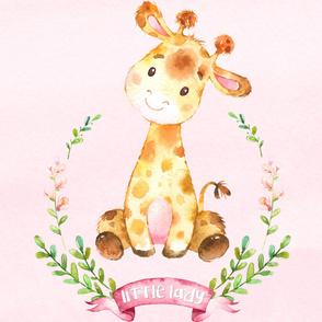 Little Lady Giraffe on Pink - 27 in