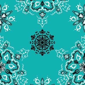 Turquoise medallion des