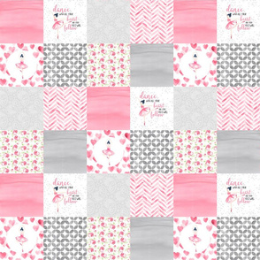 3 inch Ballerina - Wholecloth Cheater Quilt