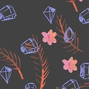 Dark Mystic Gems - Boho Pattern