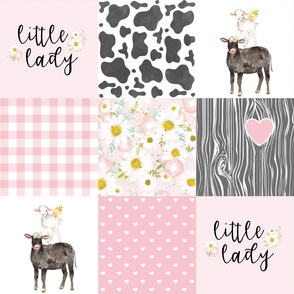 Black Cow//Little Lady//Love you till the cows come home - wholecloth Cheater quilt