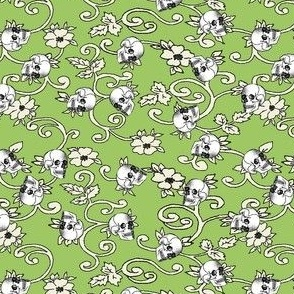 skull ditzy_green
