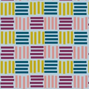 Plum Confetti Grid - Pale