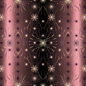 1920s pearl chic multi space rose-pink-black