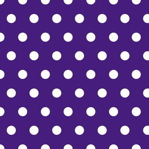 polka dots on purple