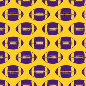 college football (purple on gold)
