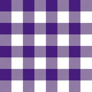 purple and white plaid
