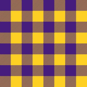 purple and gold plaid
