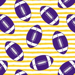 college football (purple and gold)