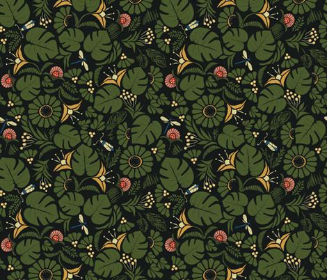 JungleLuxe-Dark fabric by mintedtulip on Spoonflower - custom fabric