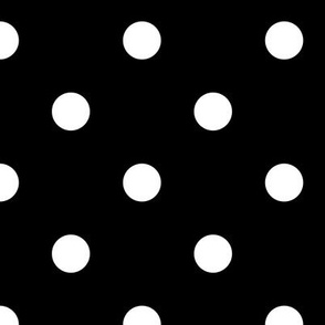 White Polka Dots on Black