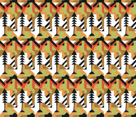 Abstract Art Deco Tree motif  fabric by jerseymurmurs on Spoonflower - custom fabric