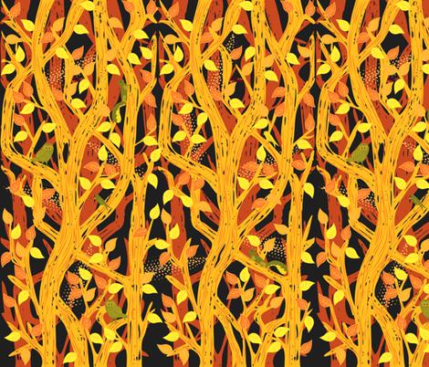 Forest Foliage fabric by heyjunge on Spoonflower - custom fabric