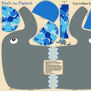 Edwin The Elephant CamoBlue