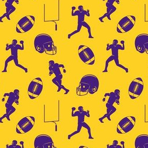 football medley - purple and gold
