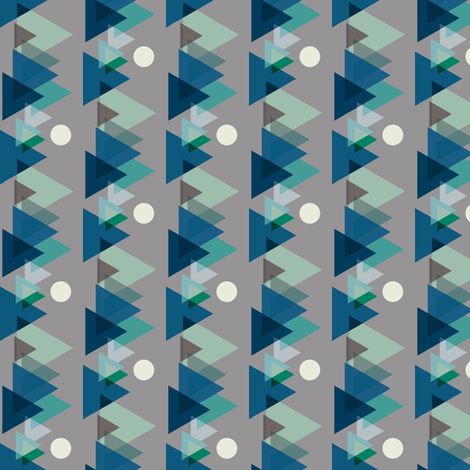 Mountains-Blue-Pattern-Swatch-ed fabric by b__woolf on Spoonflower - custom fabric