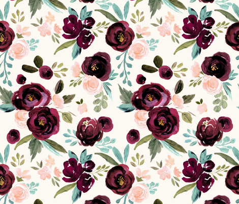 Valentina Rose fabric by crystal_walen on Spoonflower - custom fabric