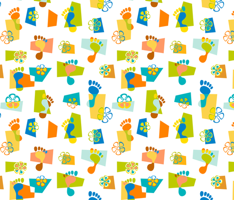 Goofy Footin' 1 fabric by madtropic on Spoonflower - custom fabric