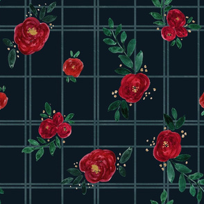 rose plaid-dark
