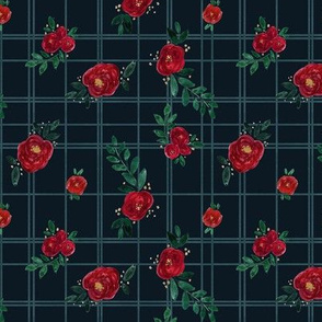 rose plaid-dark-micro