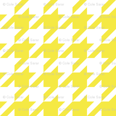 1 inch yellow houndstooth
