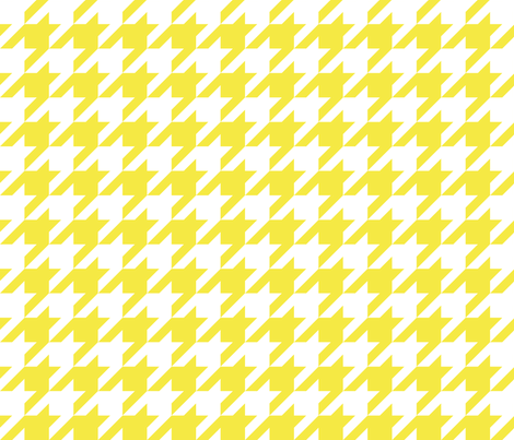 1 inch yellow houndstooth fabric by inkytea on Spoonflower - custom fabric