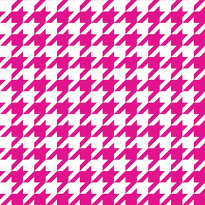1 Inch Hot Pink Houndstooth