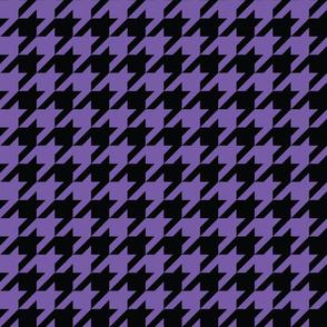 1 inch black ultraviolet houndstooth