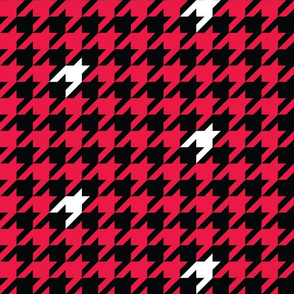 1 inch starship cherry houndstooth